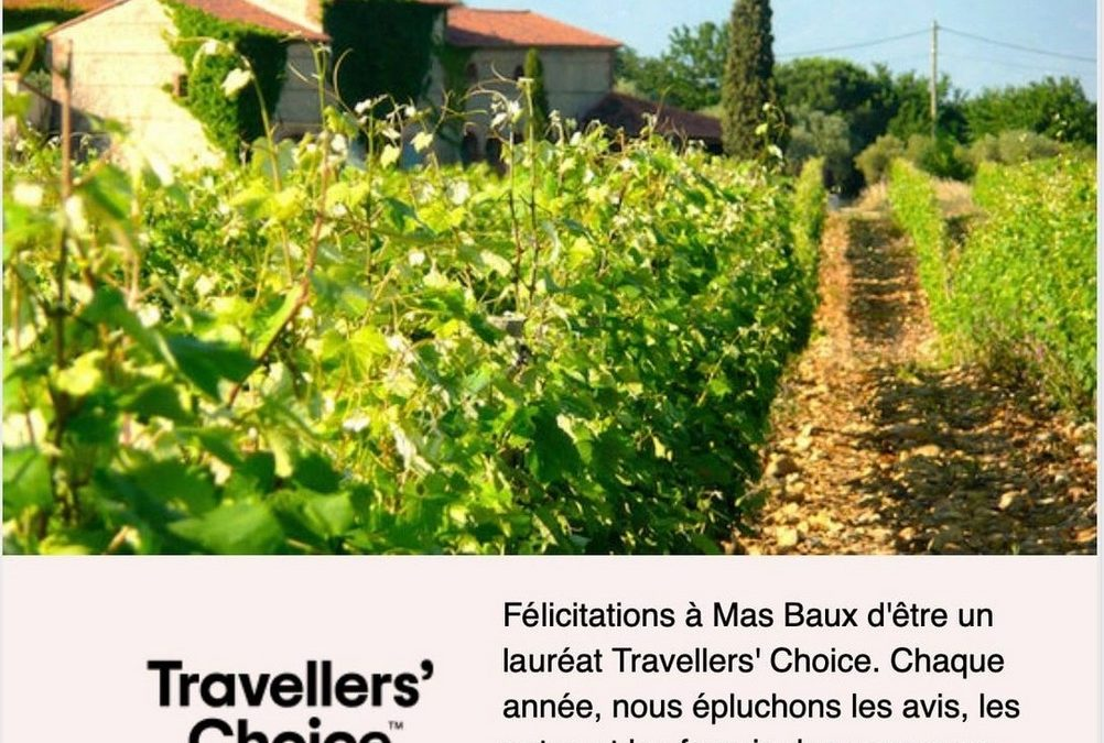 Lauréat Travellers' Choice 2020