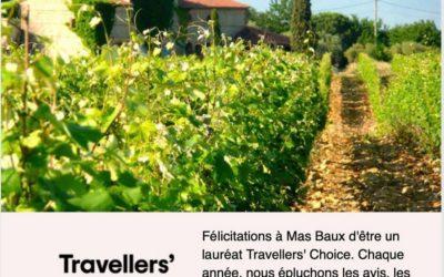 Lauréat Travellers' Choice 2020